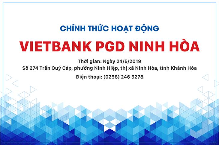 Thông báo thành lập phòng giao dịch Ninh Hòa