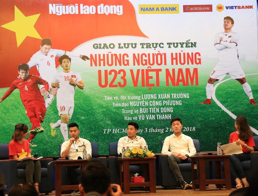 GIAO LƯU TRỰC TUYẾN VỚI CÁC TUYỂN THỦ U23 VIỆT NAM