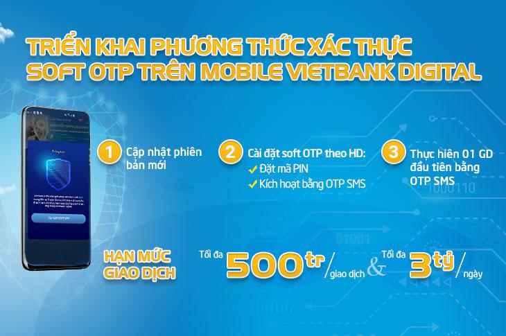 Triển khai tính năng xác thực giao dịch Soft OTP trên ứng dụng Vietbank Digital