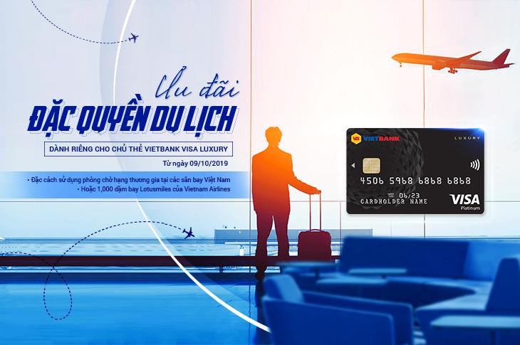 Tận hưởng ưu đãi đặc quyền du lịch cùng thẻ Vietbank Visa