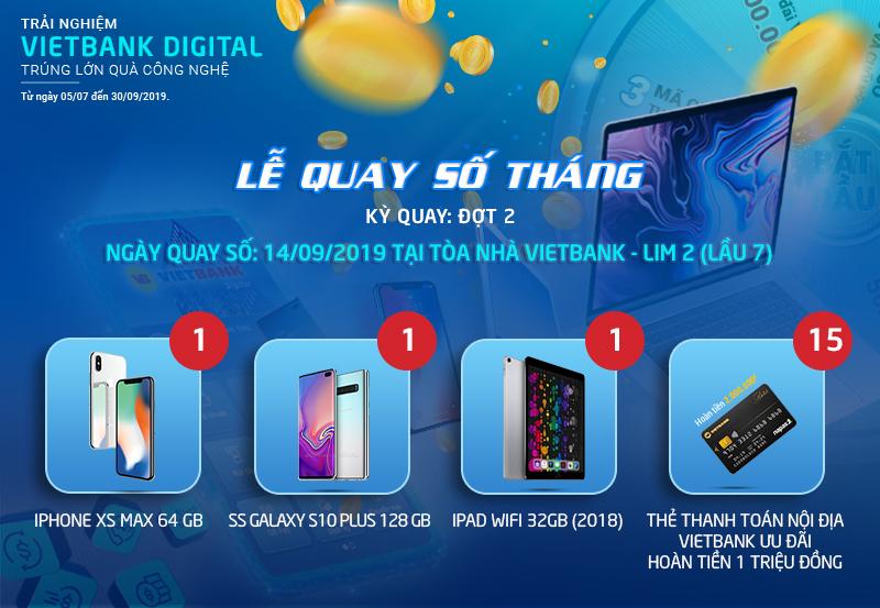 """Lễ quay số tháng đợt 2 chương trình """"Trải nghiệm Vietbank Digital – Trúng lớn quà công nghệ"""""""