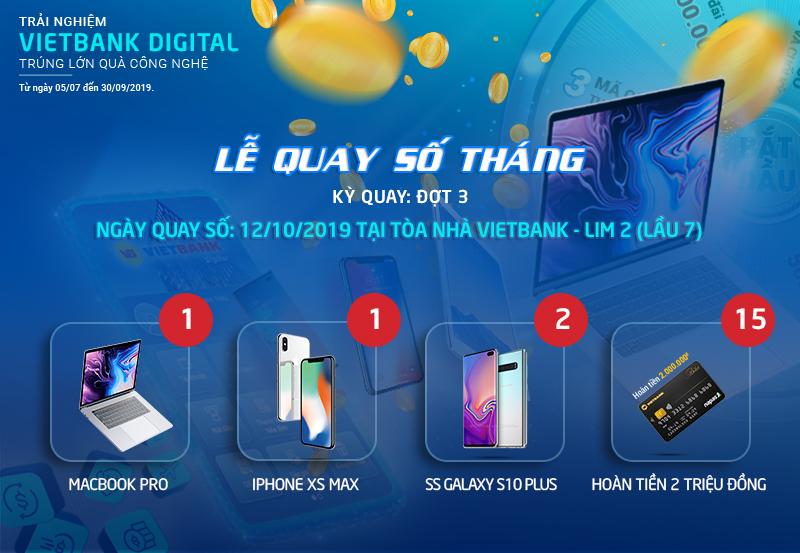 """Lễ quay số tháng đợt 3 chương trình """"Trải nghiệm Vietbank Digital – Trúng lớn quà công nghệ"""""""